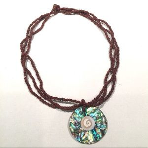 Brilliant Mother of Pearl Beaded Necklace